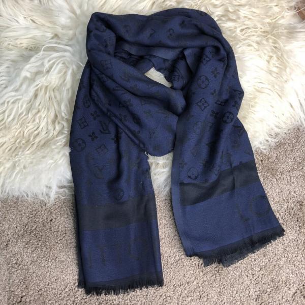 Scarves Louis Vuitton Monogram Dark Blue