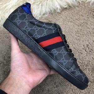 Фото  Gucci GG Supreme Web Sneaker Black/Black