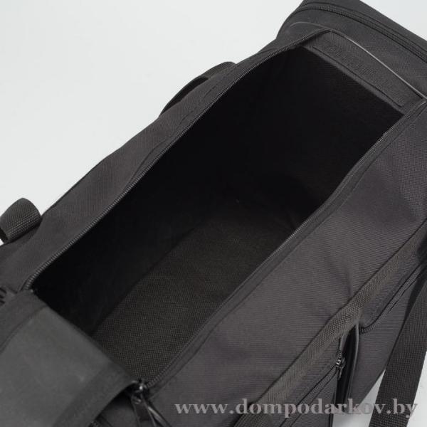 Фото ПОСМОТРЕТЬ ВЕСЬ КАТАЛОГ, Галантерея, Дорожные / спортивные сумки  Сумка спортивная, 1 отдел, 4 наружных кармана, длинный ремень, цвет чёрный