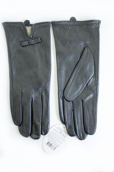 Сенсорные женские кожаные перчатки (искусственный кролик)
