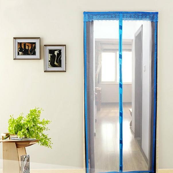 ААнтимоскитная сетка штора на дверь на магнитах Magic mesh без рисунка (220х110)