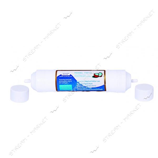 Линейный постфильтр AquaKut для соединения Quick активированный кокосовый уголь Т-33-33 QF