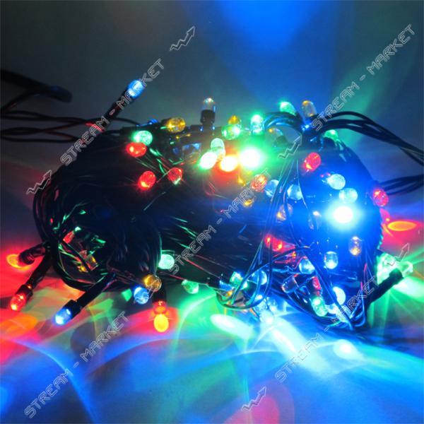 Гирлянда черная 'линза' 300 LED, разноцветные огни с регулировкой