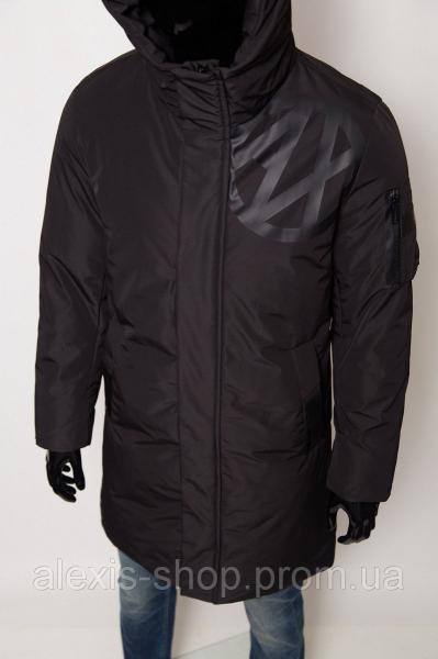 Куртка мужская зимняя Armani 8-66 черная реплика