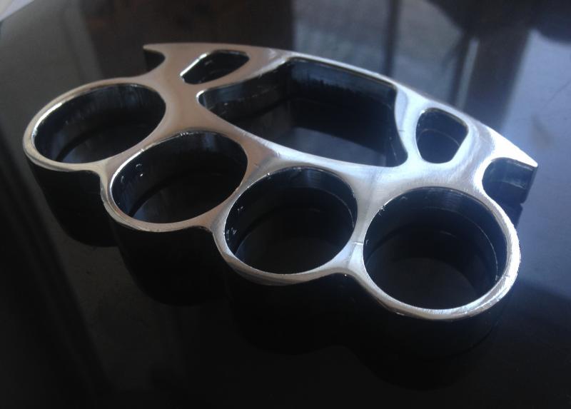 Кастет - хромированная сталь