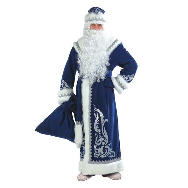 Карнавальный костюм Деда Мороза аппликация синий