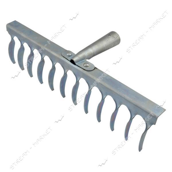 Грабли оцинкованные 12 зубов длина 40см (высший сорт)