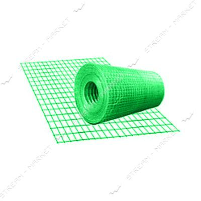 Сетка сварная с полимерным покрытием ячейка 50мм Проволока d2мм 2х25м