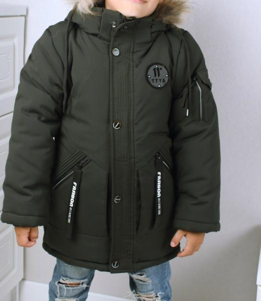 -10% Скидка! Пальто-парка зима мальчику 104 и 122 см
