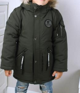 Фото Куртки, комбинезоны, парки, жилетки МАЛЬЧИКАМ Пальто-парка зима мальчику от 4 до 7 лет