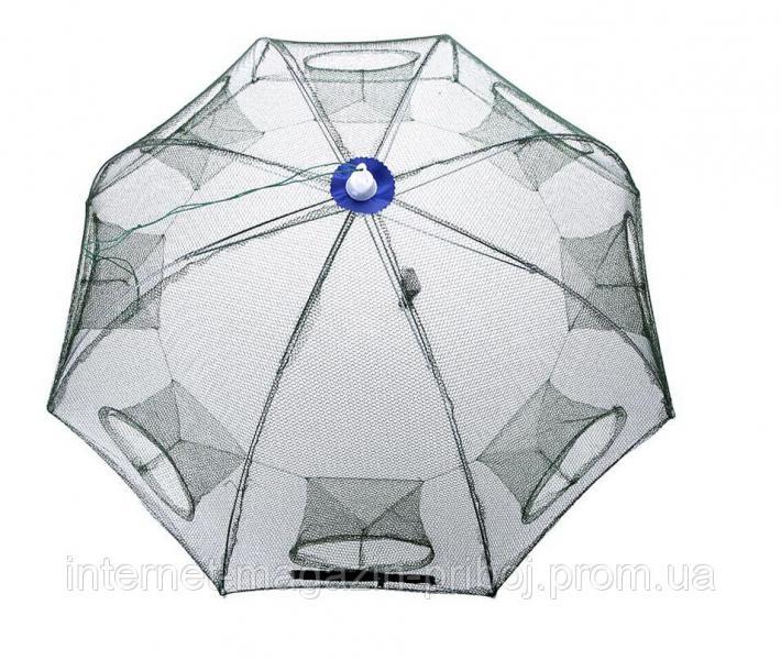 Раколовка зонтик 8 входов 1х1м