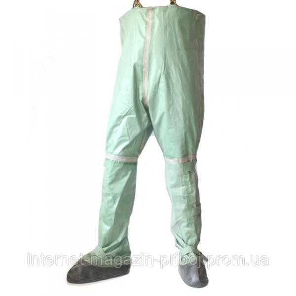 Полукомбинезон ОЗК (химзащита) 3 рост, заброды резиновые зеленые
