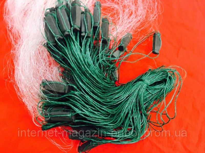 Фото Сети рыболовные Сетка рыбацкая белая 1.8х80м Ø18мм