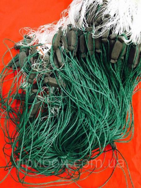 Фото Сети рыболовные Сеть одностенная из капроновой нити 3х100м Ø45мм
