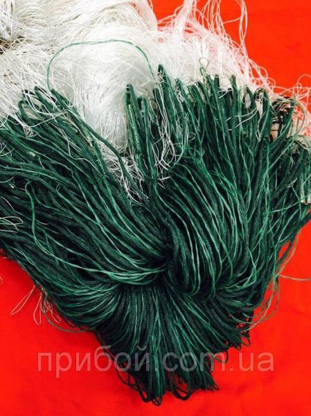 Фото Сети рыболовные Сетка рыбацкая из нитки трехстенка, груз в шнуре 3х100м Ø50мм