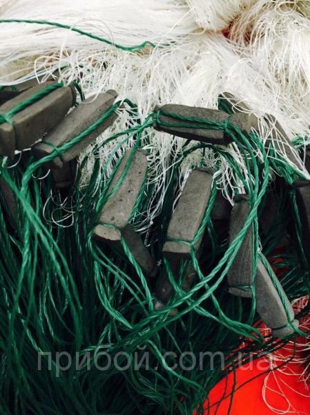 Фото Сети рыболовные Сеть рыболовная трехстенная из нитки, груз в шнуре 3х100м Ø75мм