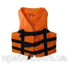 Жилет страховочный одноцветный (оранжевый) 110-130кг
