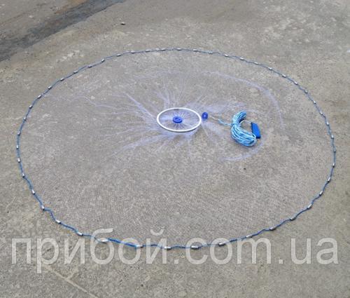 Фото Кастинговые сети, парашюты (леска и нитка) Кастинговая сеть (парашют) Американского типа ячея 12мм