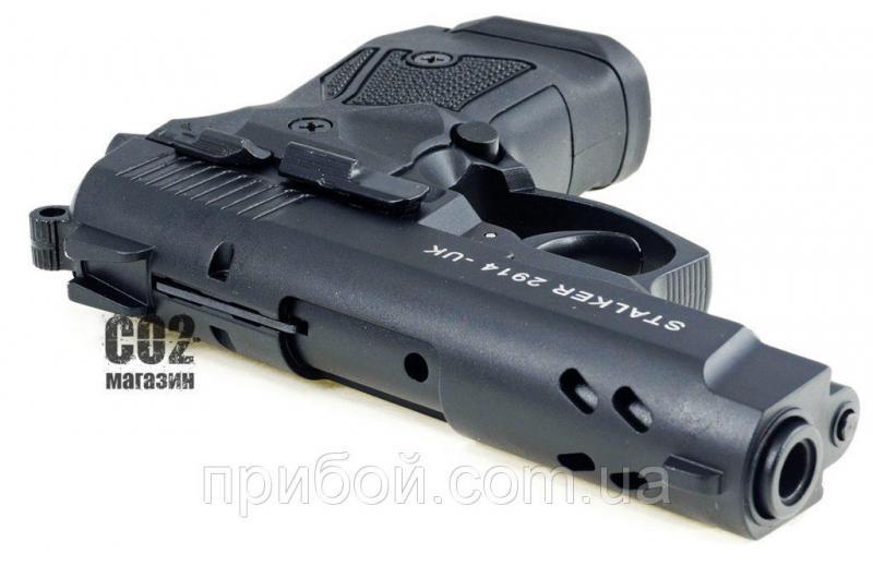 Фото Пневматическое и спортивное оружие, Пистолеты стартовые (сигнально шумовые), Стартовые пистолеты Stalker Стартовый пистолет Stalker (zoraki) 9мм 2914s черный