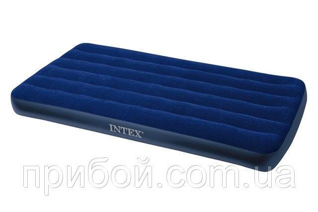 Матрас надувной односпальный Intex Classic Downy 99х191х22 см