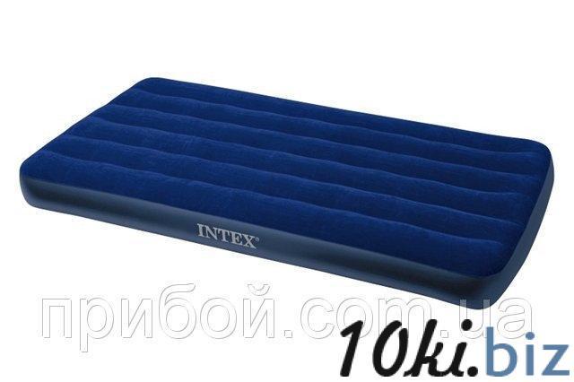 Матрас надувной односпальный Intex Classic Downy 99х191х22 см - Надувные кровати и матрасы для сна в магазине Одессы