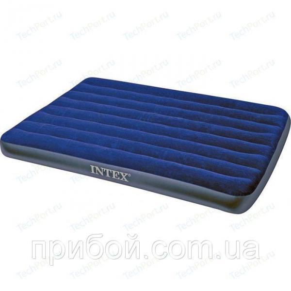 Двухместный надувной матрас Intex Classic Downy 183х203х22 см