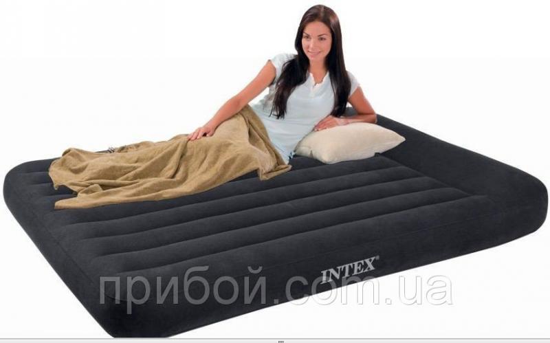 Полуторный надувной матрас (кровать) Intex 66768 137х191х30см