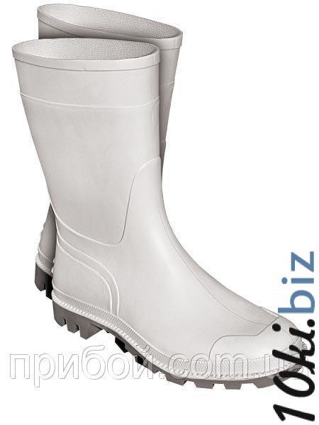 Сапоги резиновые (белые) - Обувь рабочая в магазине Одессы