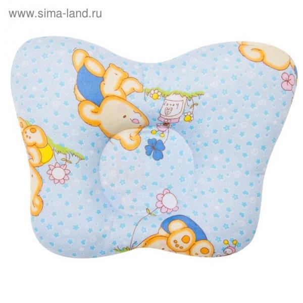 Подушка анатомическая, размер 28*21 см, цвет голубой 12-3Шт