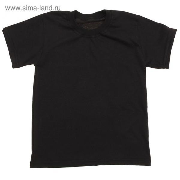 Футболка для мальчика, рост 116 см, цвет чёрный