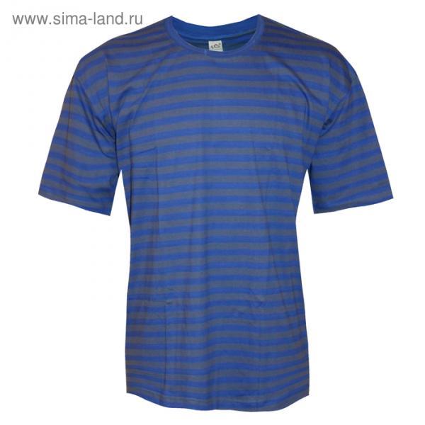 Футболка мужская, цвет синий, размер 56