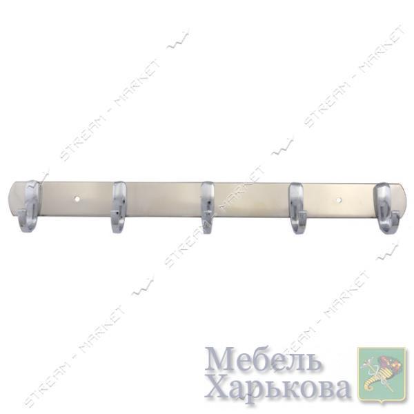 Вешалка на 5 крючков 03-57 хром - Вешалки для одежды в Харькове