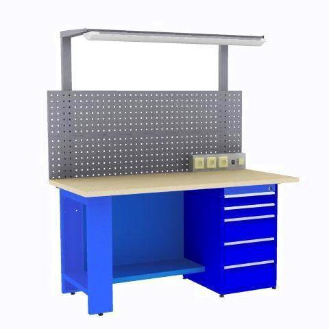 Стол-верстак СВ-03 для легких и средних работ  с надстройкой