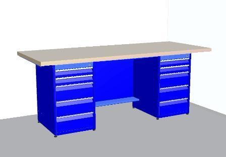 Стол-верстак СВ-20 для средних и тяжелых работ