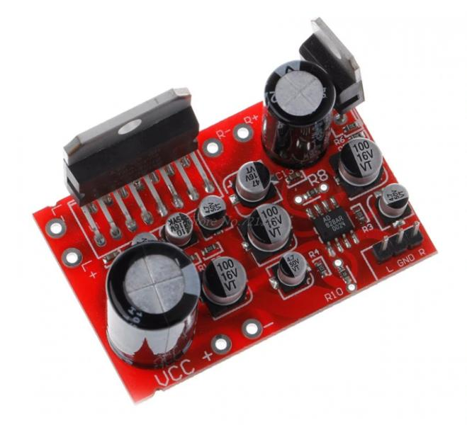 Усилитель 2 х 38 Вт TDA7379 с предусилителем AD828