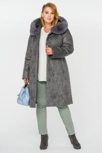 Фото  Пальто зимнее с капюшоном
