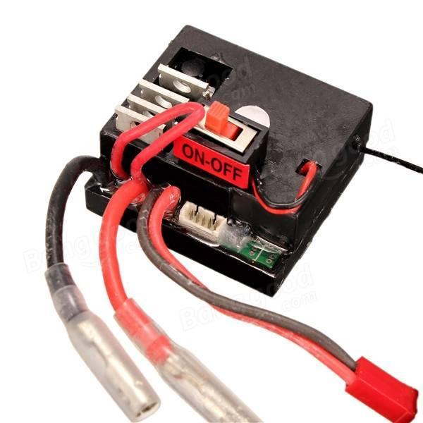 Приемник Wltoys 1/18 Car Receiver A949-56, для машинок Wltoys A949 A959 A969 A979. Плата управления 3-и в одном, приемник, регулятор хода, контроллер сервопривода.