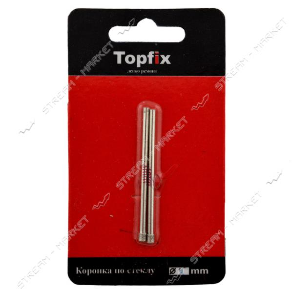 TOPFIX Коронка алмазная по стеклу и керамике 8мм