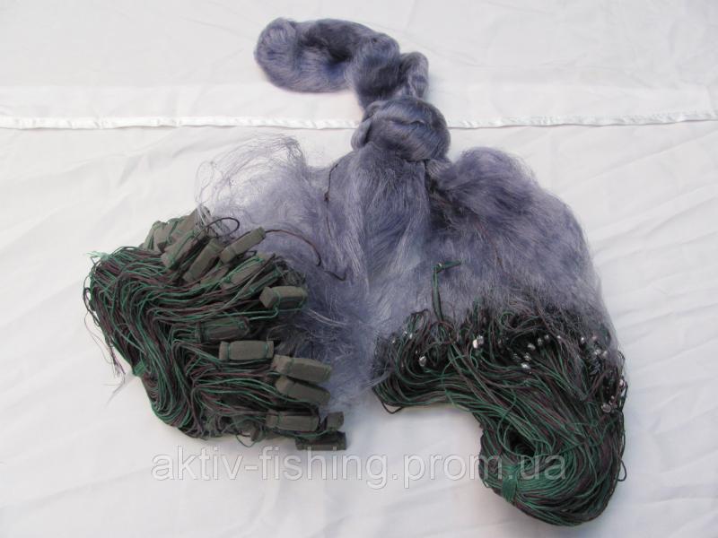 Сеть Рыболовная одностенка (синяя) - Ячейка 60,груз дробинка свинец