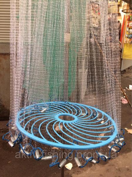 Парашют, накидка рыболовная из лески с фрисби, 4 м
