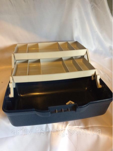 Фото ящик зимний рыболовный Ящик рыболовный, 2 полки с перегородками