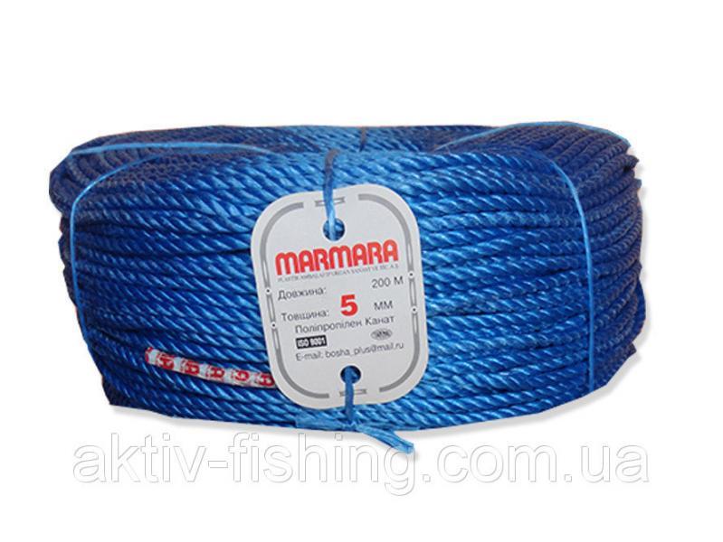 Верёвка полипропиленовая, крученая, мармара, 5