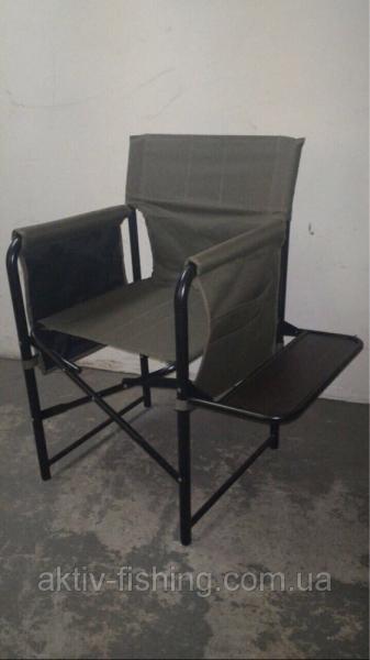 Кресло рыболовное с боковой деревянной полкой