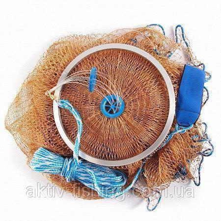 Фото Рыболовные сети; одностенки, трехстенки; экраны, финки ;косынки, куклы; полотна; ятеря; раколовки,, Парашют, накидка, ( кастинговая сеть) Парашют, нить, малый круг, диаметр 4 м, ячейка 12