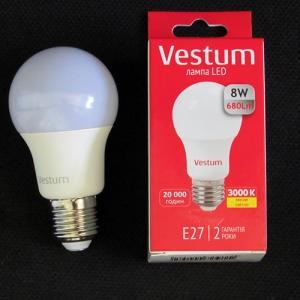 Светодиодная лампа Vestum LED A55 8W 4100K 220V E27
