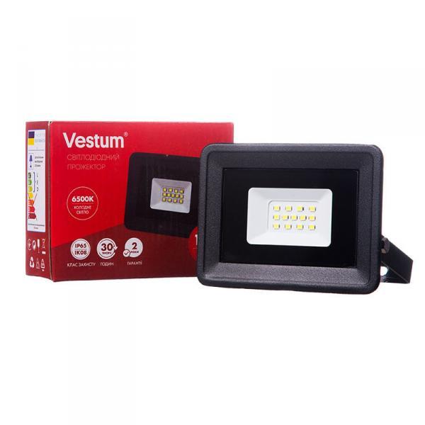 Фото Освещение, Прожекторы Прожектор LED Vestum 10W 900Лм 6500K 185-265V IP65