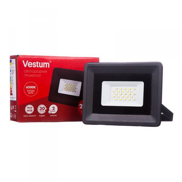 Фото Освещение, Прожекторы Прожектор LED Vestum 20W 1800Лм 6500K 185-265V IP65