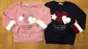 Фото Кофты, толстовки, рубашки, свитера Кофты с меховыми вставками для девочки от 6 до 9 лет