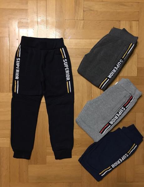 Спортивные штаны  утепленные для мальчика от 4 до 12 лет