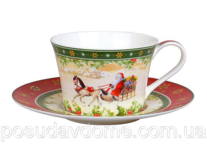 """Чайный набор 2 предмета """"Christmas collection"""" 180 мл, Lefard, 986-035"""